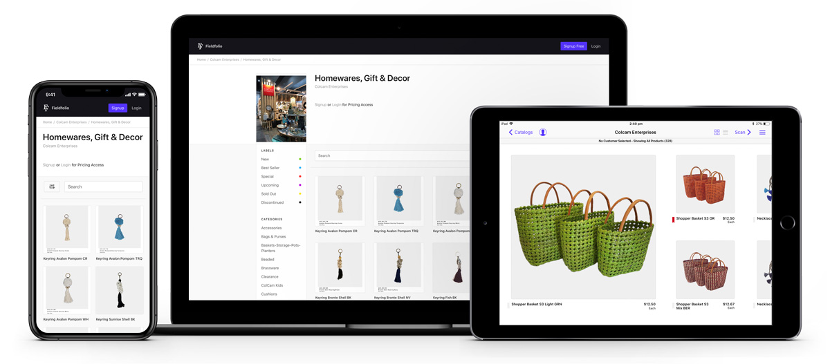 Fieldfolio wholesale sales and ordering client apps